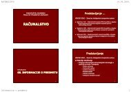 00. Informacije o predmetu - Fakultet prometnih znanosti ...