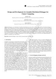 Design and Development of a Scalable Distributed Debugger for ...