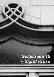 Goldstraße 15 – Sigrid Kruse - Goldstrasse 15