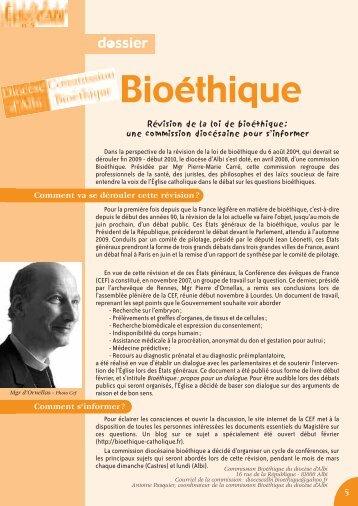 Bioéthique - Diocèse d'Albi