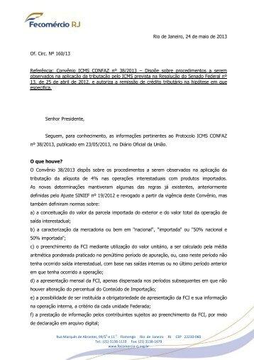 28/05 Convênio trata da tributação da alíquota de 4% nas ...