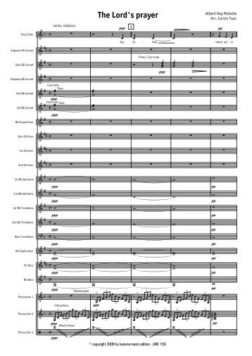 Finale 2008a - [The Lord's Prayer - Score.MUS] - Lucerne Music ...