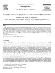 Long-term behavior of polynomial chaos in stochastic flow simulations