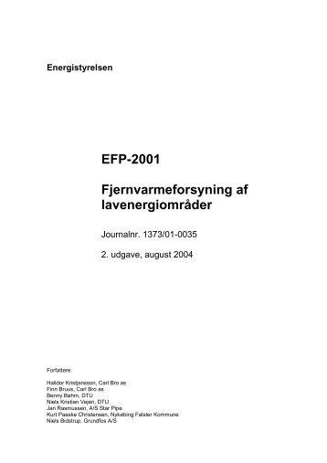 Energistyrelsen EFP-2001 Fjernvarmeforsyning af lavenergiområder