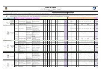 Programa Operativo Anual - Correos del Ecuador