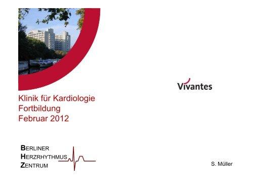Klinik für Kardiologie Fortbildung Februar 2012