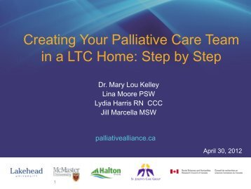 Creating Your Palliative Care Team in a LTC Home: Step by Step