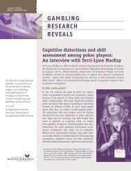 Issue 6, Volume 9 - August / September 2010 - Alberta Gambling ...