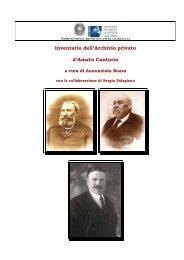 D'Amato-Cantorio - Istituto Centrale per gli Archivi