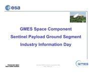 Sentinels PDGS - emits - ESA