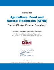 National AFNR Career Cluster Standards