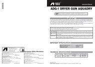 ADG-1 DRYER GUN AQUADRY - Anest Iwata