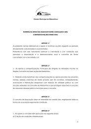Câmara Municipal de Matosinhos 3 NORMAS DE APOIO AO ...