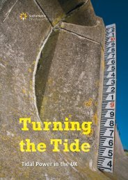 Tidal Power in the UK - Sustainable Development Commission