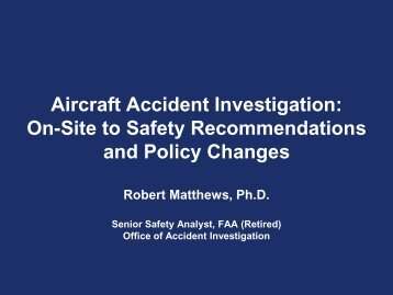 a report on the account of the investigation of mas 608 aircraft accident Chief inspector of air accidents ministry of transport 13 aircraft accident and incident investigation of air accidents ministry of transport malaysia.