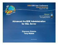 Advanced ArcSDE Administration for SQL Server