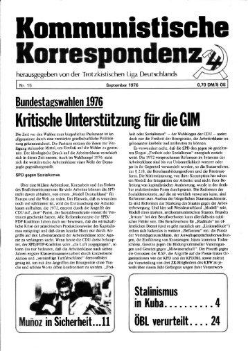 KK 15/76 - International Bolshevik Tendency