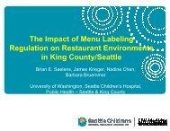 The Impact of Menu Labeling Regulation on Restaurant ...