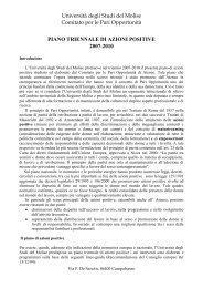 Piano di azioni positive 2007-2010 - Università degli Studi del Molise
