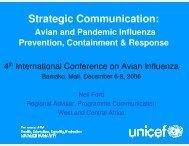 Strategic Communication: - Avian and Pandemic Influenza ...