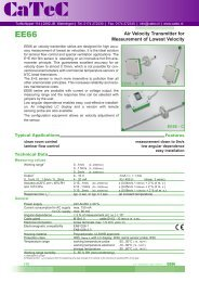 Air Velocity Transmitter for Measurement of Lowest Velocity