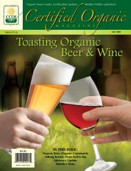 Toasting Organic Beer and Wine - CCOF