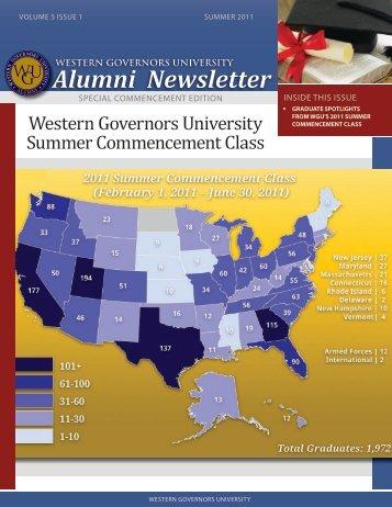 Alumni Newsletter - WGU Alumni Community - Western Governors ...