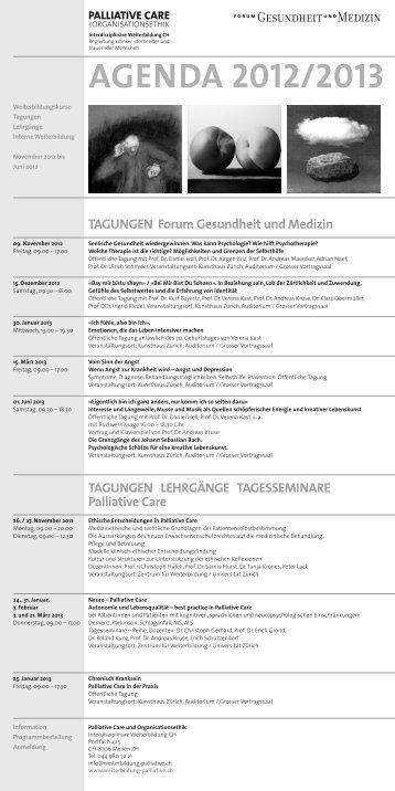 AGENDA 2012/2013 - Aktuelles von Palliative Care und ...
