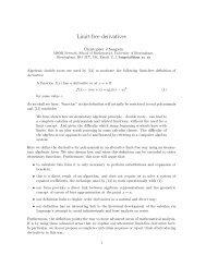 Limit-free derivatives - University of Birmingham