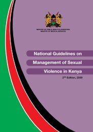 National Guidelines on Management of Sexual Violence in Kenya