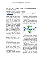 Study of Artificial Molecular Engines Action Through ... - COMSOL.com