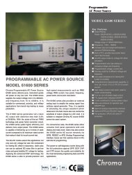 model 61600 series - Chroma Systems Solutions