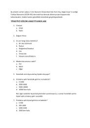 tüketici eğilim anketi soruları - İzmir Ekonomi Üniversitesi