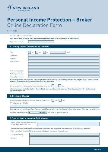 personal income protection broker online data capture form. Black Bedroom Furniture Sets. Home Design Ideas