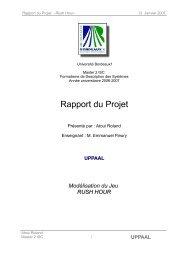 Rapport du Projet - Master, Mes projets , Sketching , modelisation ...