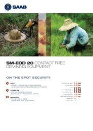 SM-EOD 20 CONTACT FREE DEMINING EQUIPMENT - Saab