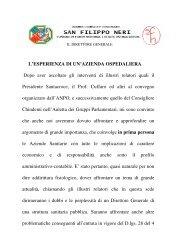 L'ESPERIENZA DI UN'AZIENDA OSPEDALIERA Dopo aver ...