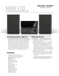 Specification Sheet - MAS 110 (English EU) - Harman Kardon