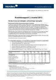 Kvartalsrapport 3. kvartal 2013 - Cision