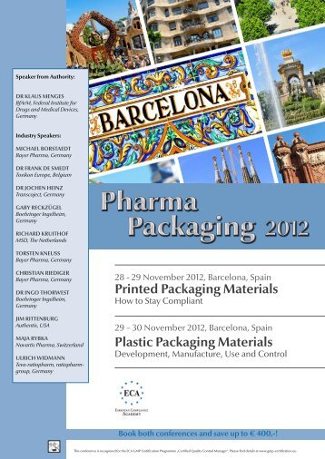 Printed Packaging Materials - European Compliance Academy