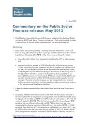 Commentary on the Public Sector Finances - Office for Budget ...