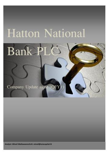 Hatton National Bank PLC Company Update as at 3QFY11