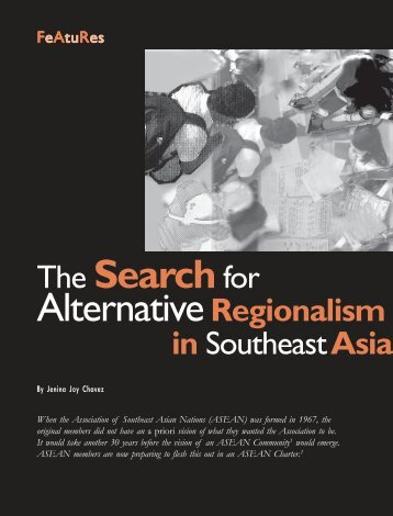 The Searchfor AlternativeRegionalism - Isis International Manila