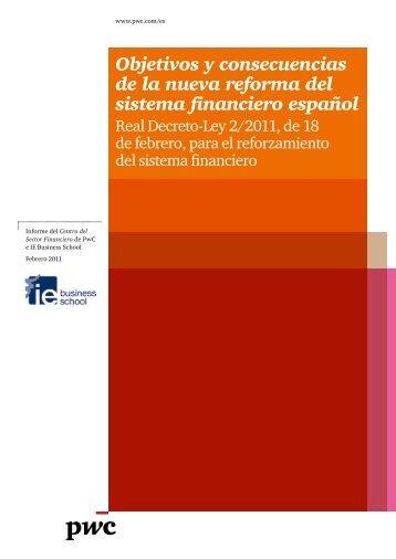 Objetivos y consecuencias de la nueva reforma del sistema ... - pwc
