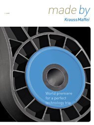 World premiere for a perfect technology trio - Krauss-Maffei ...