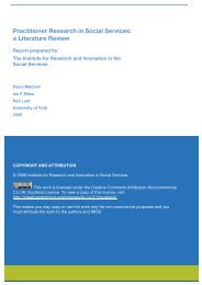 Practitioner Research in Social Services: a Literature Review