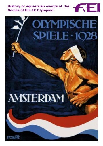 History of equestrian events at the Games of the IX ... - FEI History Hub