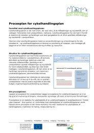 Procesplan for cykelhandlingsplan - Cykler uden grænser