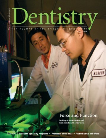 Force and Function - School of Dentistry - University of Minnesota