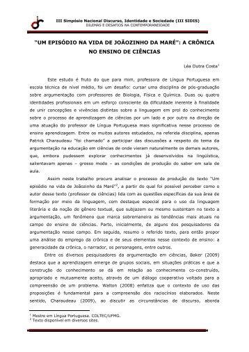 """""""Um episódio na vida de Joãozinho da Maré"""", de autoria do ... - IEL"""